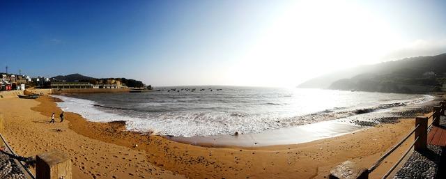 Bay shengsi sunbathing, travel vacation.