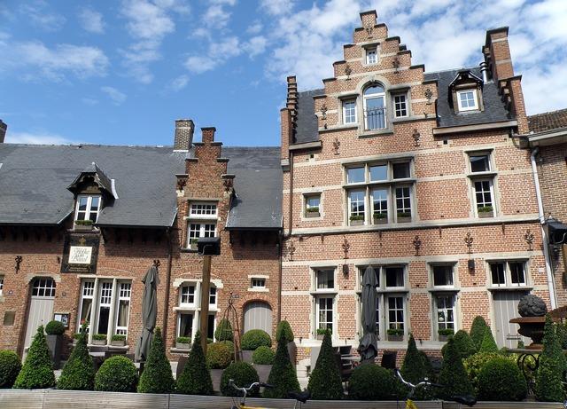 Bazel belgium gable, architecture buildings.