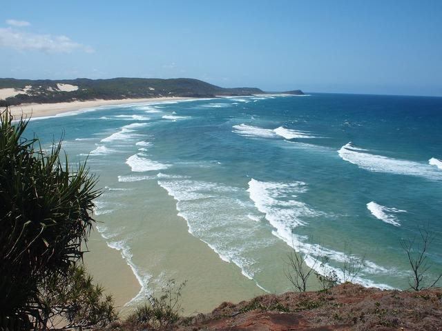 Beach bay noosa, travel vacation.