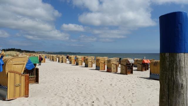Beach beach chair baltic sea, travel vacation.