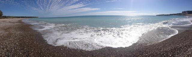 Beach booked sea bay, travel vacation.