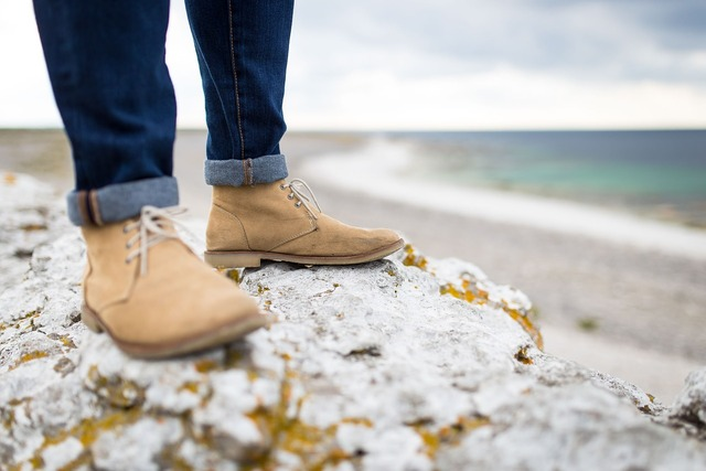 Beach boots depth of field, travel vacation.