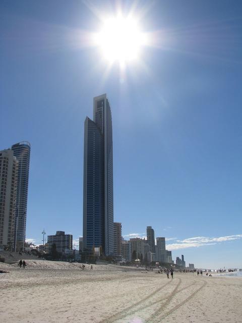 Beach brisbane australia, travel vacation.