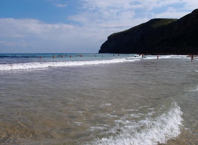 Beach cantabria sun, travel vacation.