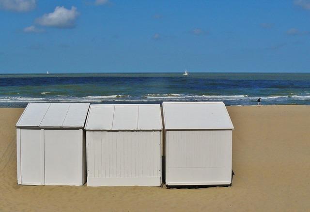 Beach coast sea, travel vacation.