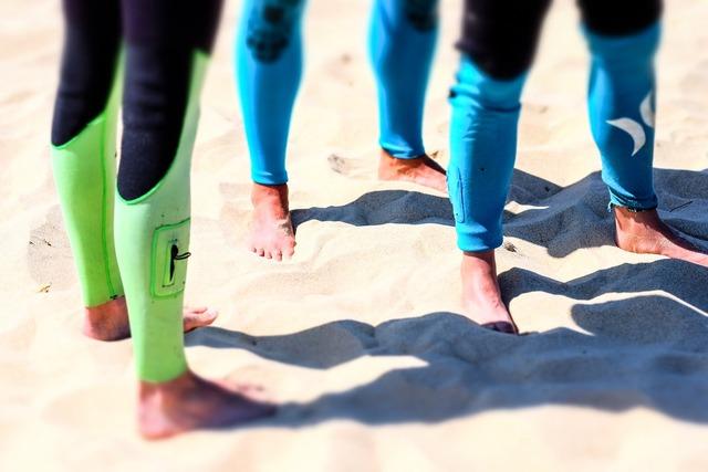 Beach feet legs, travel vacation.
