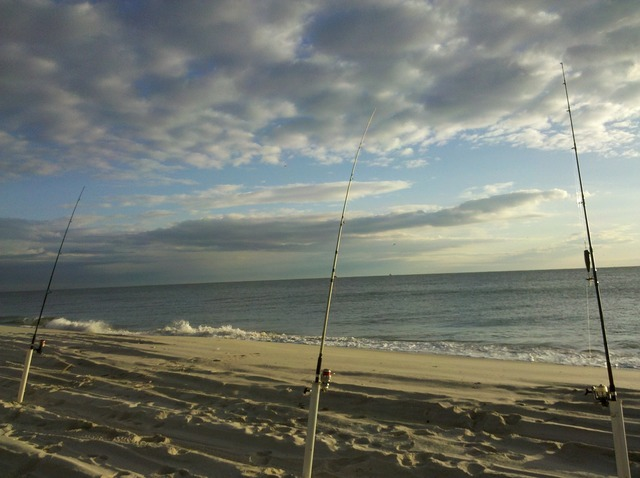 Beach fishing seascape, travel vacation.