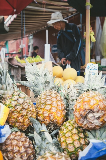 Beach fruit fruits, travel vacation.