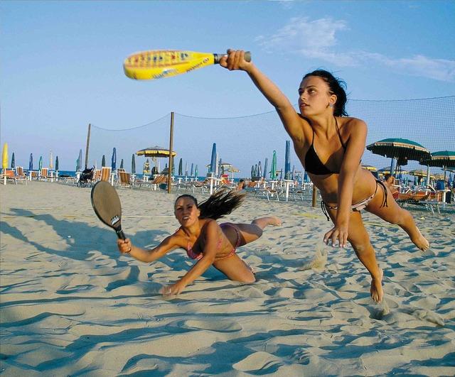 Beach games girls, travel vacation.