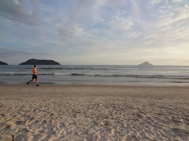 Beach holidays race, travel vacation.