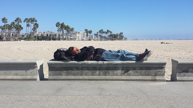 Beach homeless venice beach, travel vacation.