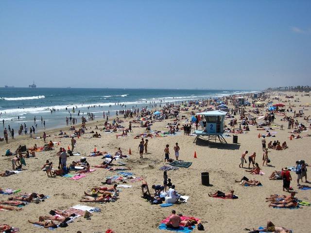Beach huntington california, travel vacation.