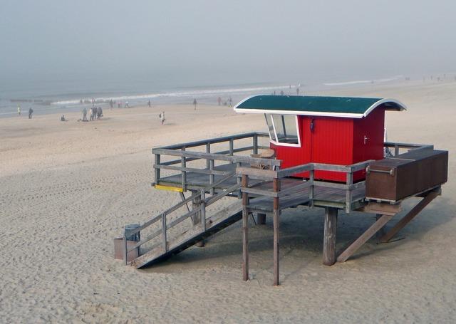 Beach hut supervision, travel vacation.