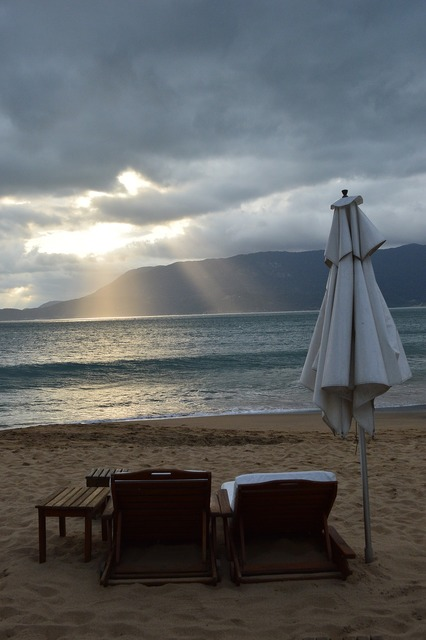 Beach mar light, travel vacation.