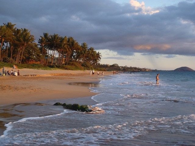 Beach maui hawaii, travel vacation.