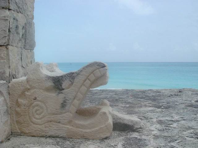 Beach maya prehispanic, travel vacation.