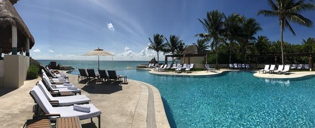 Beach mexico paradise, travel vacation.