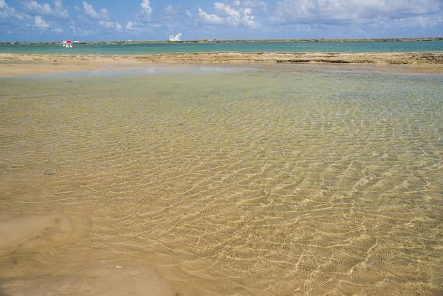 Beach natural swimming pool bar, travel vacation.