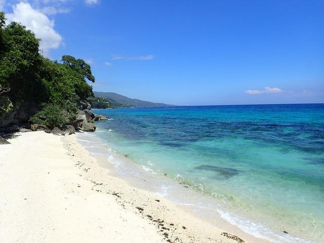 Beach oslob philippines, travel vacation.