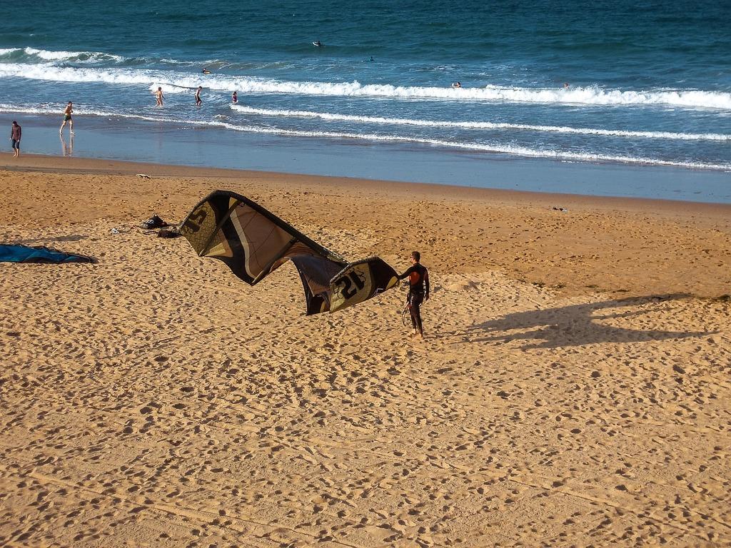 Beach sailing sand, travel vacation.