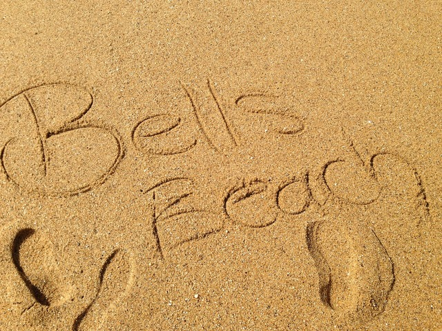 Beach sand bells beach, travel vacation.