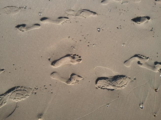 Beach sand hiking, travel vacation.