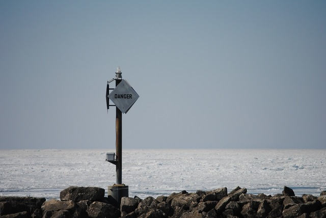 Beach sea danger, travel vacation.