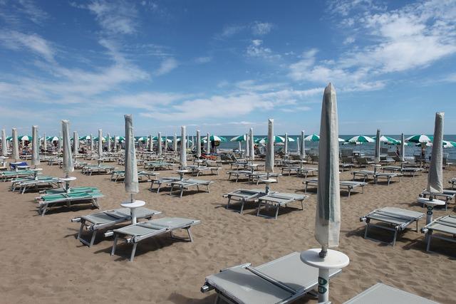 Beach sea holidays, travel vacation.