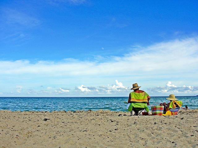 Beach sea miami, travel vacation.