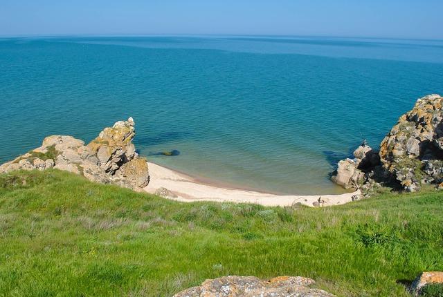 Beach sea sand, travel vacation.