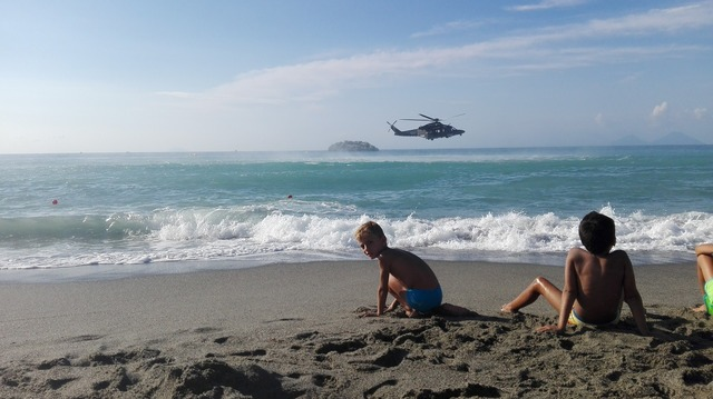 Beach sea sicily, travel vacation.