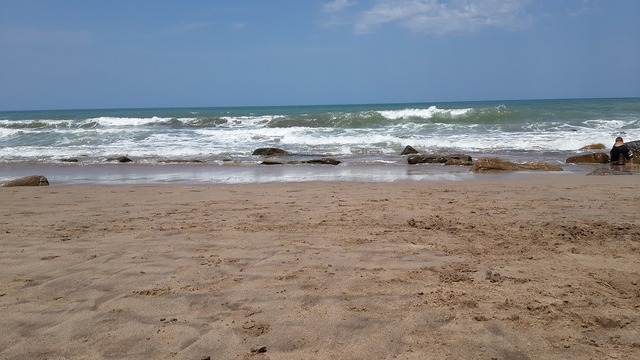 Beach sea south, travel vacation.