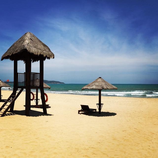 Beach sea summer, travel vacation.