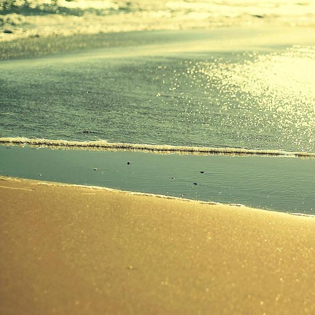 Beach sea water, travel vacation.