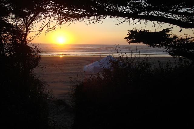 Beach side oregon, travel vacation.