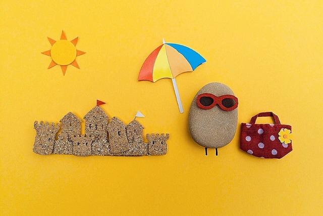 Beach summer rock, travel vacation.