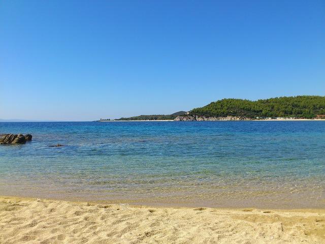 Beach toroni sea, travel vacation.