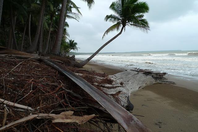 Beach tropics erosion, travel vacation.