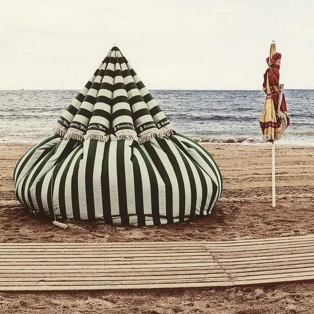 Beach trouville sea, travel vacation.