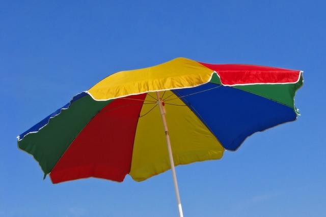 Beach umbrella beach umbrellas, travel vacation.