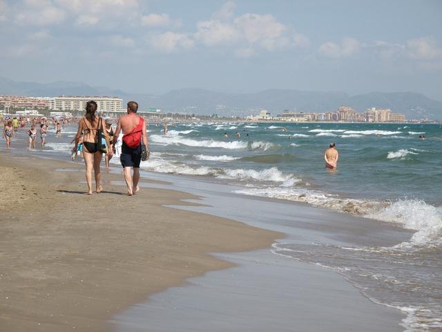 Beach valencia spain, travel vacation.