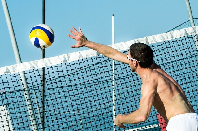 Beach volleyball ball volleyball, travel vacation.