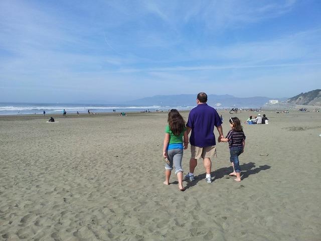 Beach walk san francisco, travel vacation.