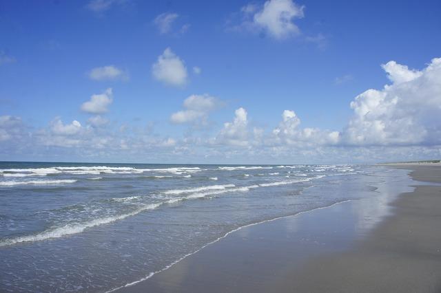 Beach wave north sea, travel vacation.