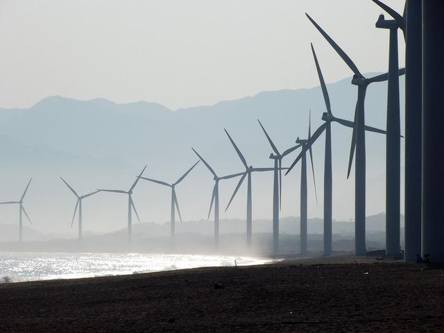 Beach wind farm bangui, travel vacation.