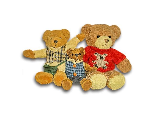 Bear children toys bear family, animals.