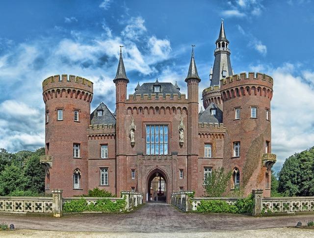 Bedburg hau germany castle, architecture buildings.