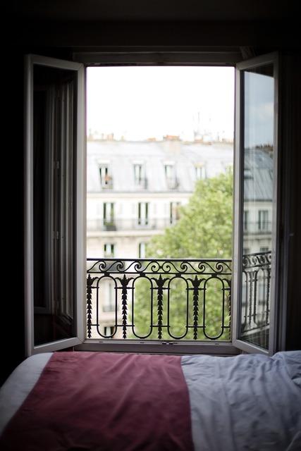 Bedroom window france interior, architecture buildings.