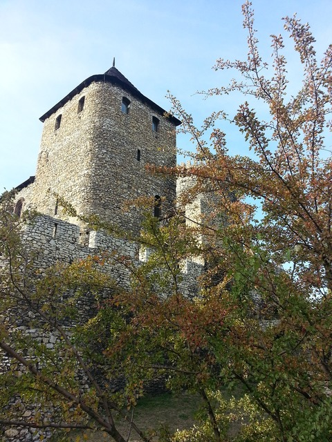 Bedzin castle tower, architecture buildings.