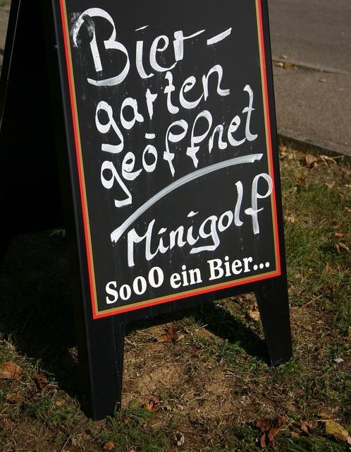 Beer garden shield pub, food drink.
